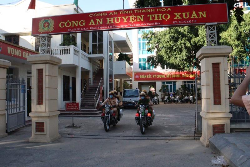 Thanh Hóa: Công an huyện Thọ Xuân ra quân tuyên truyền, kiểm tra, xử lý vi phạm về tải trọng và kích thước của phương tiện vận tải