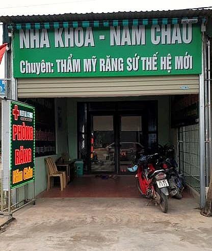 thi xa nghi son thanh hoa ai chong lung de hang loat phong kham nam chau hoat dong trai phep