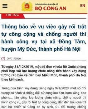 bo cong an 3 chien si cong an hy sinh trong vu viec tai dong tam