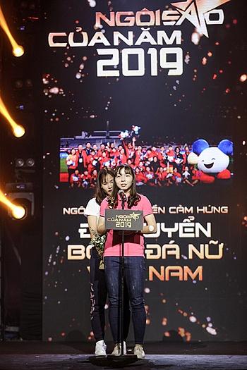 Đội tuyển bóng đá nữ nhận giải Ngôi sao truyền cảm hứng