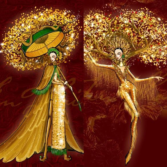 Á hậu Ngọc Thảo sẽ mặc trang phục Lá Ngọc cành vàng tham gia cuộc thi Miss Grand International