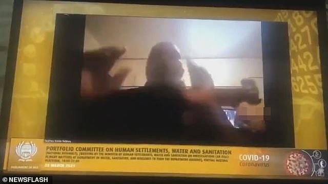 Họp trực tuyến trong phòng ngủ, quan chức Nam phi để lộ hình bà xã khỏa thân