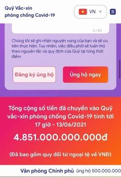 ra mat website quy vaccine phong covid 19