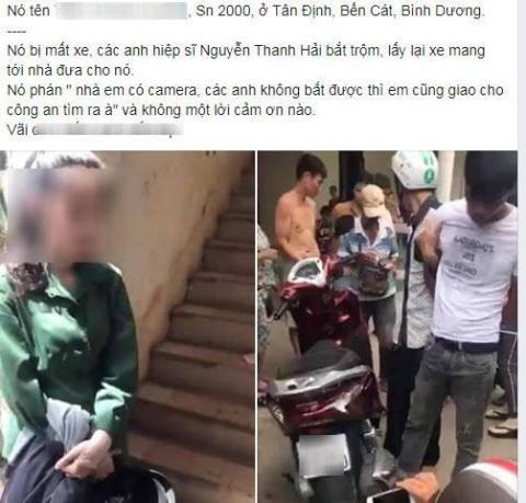 Nữ sinh vô ơn khi nhận lại xe máy bị mất trộm và chuyện những hiệp sỹ không cần tri ân
