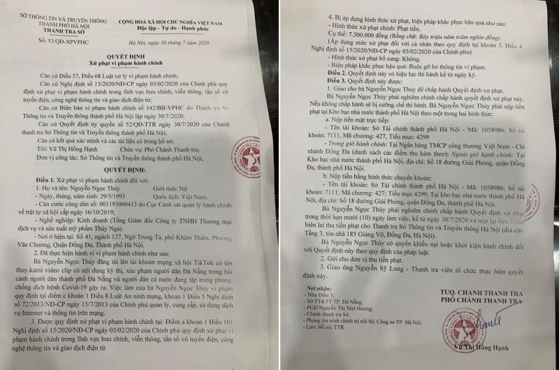 Phạt tiền Á hậu Doanh nhân vì đăng clip phản cảm xúc phạm người Đà Nẵng
