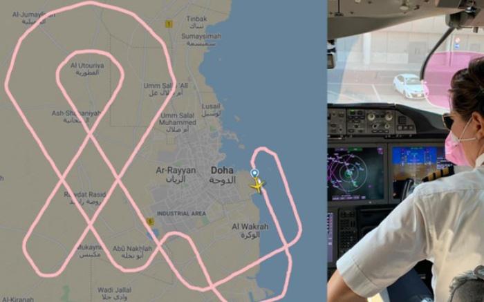 Phi hành đoàn nữ vẽ ruy băng lên bầu trời Ausralia