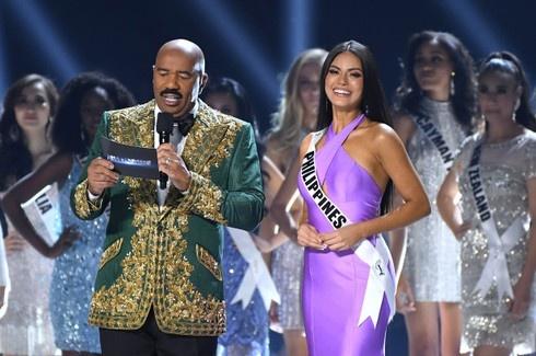 MC Hoa hậu Hoàn vũ 2019 công bố nhầm kết quả?