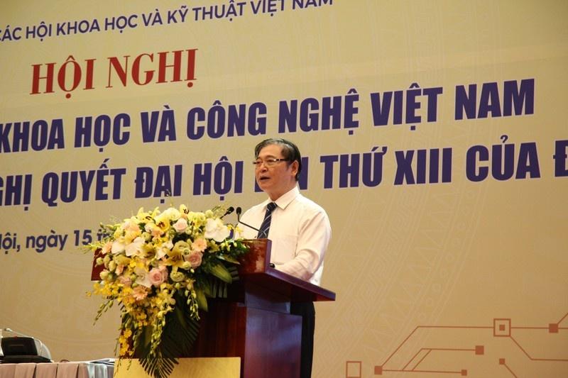 Đồng chí Phan Xuân Dũng, Bí thư Đảng đoàn, Chủ tịch VUSTA phát biểu khai mạc Hội nghị