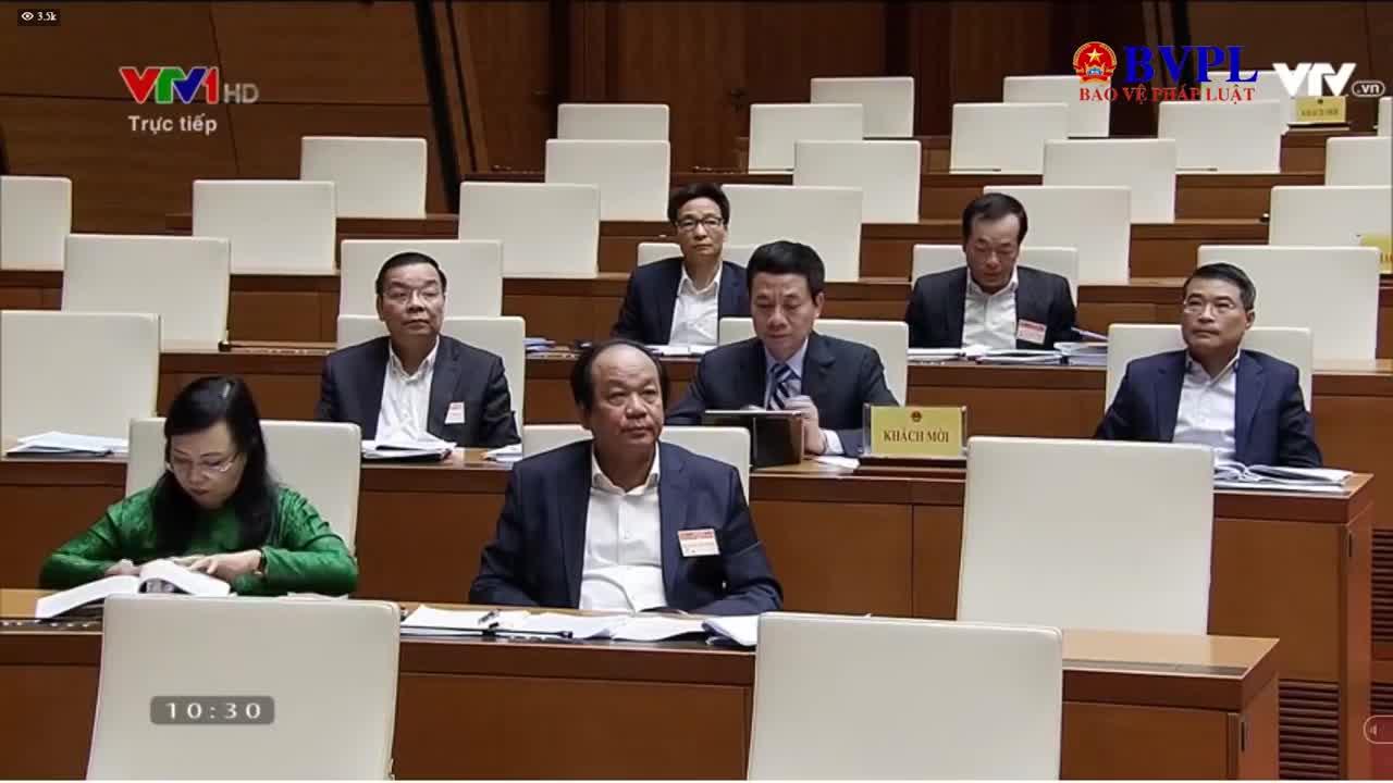 Viện trưởng VKSND tối cao trả lời chất vấn tại kỳ họp thứ 6, Quốc hội khóa XIV