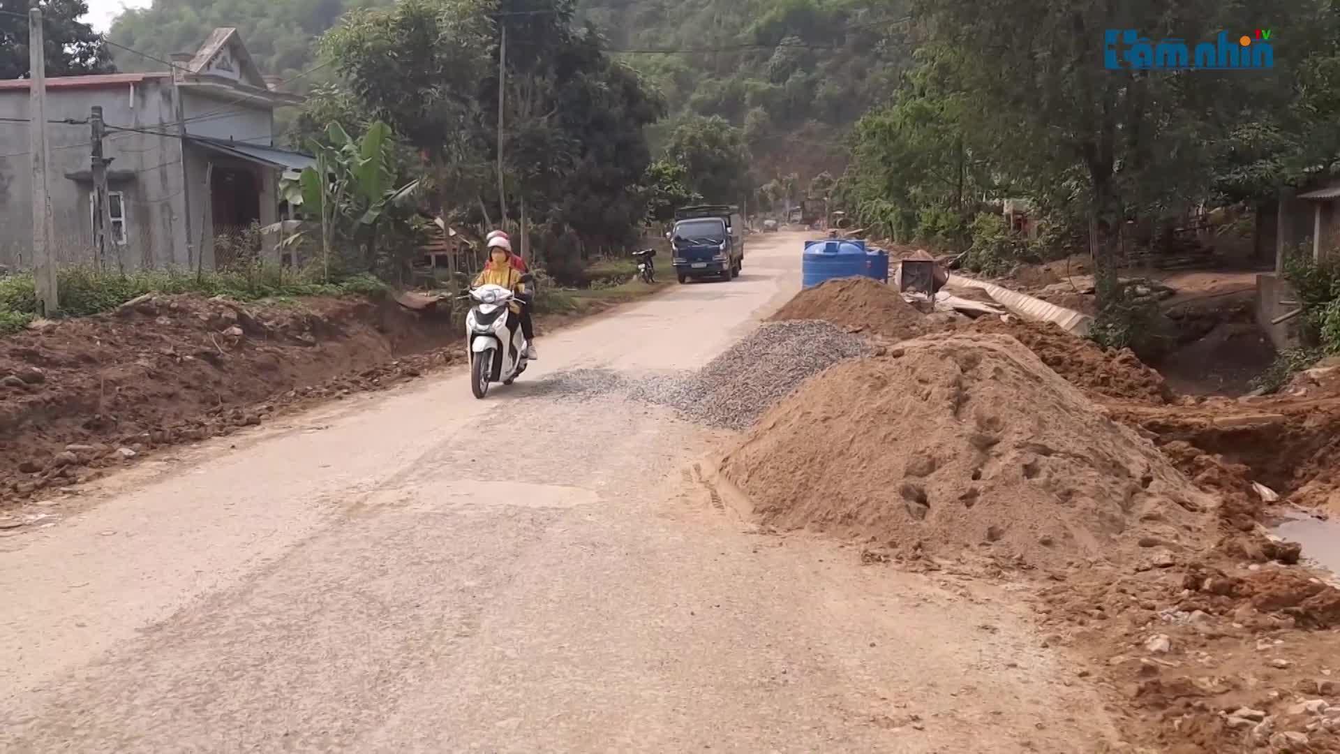 Mất ATGT trên tuyến QL4G do sửa đường