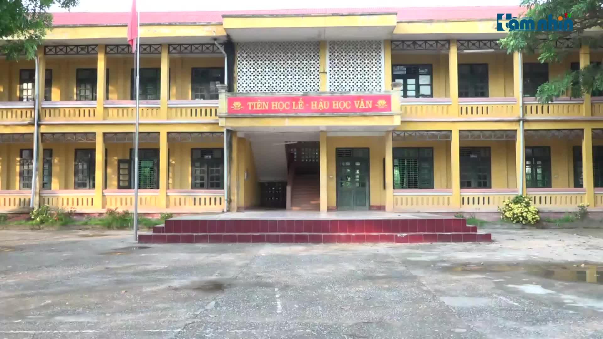 Thanh Hóa: Có hay không việc bao che cho vi phạm của hiệu trưởng Trường THCS Thành Tân