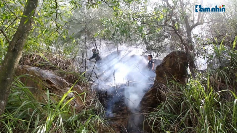 Nghệ An: Đốt vàng mã tháng cô hồn cháy lan sang cả rừng?