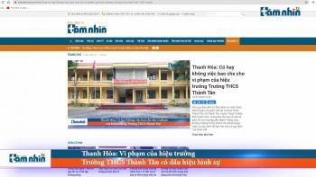 Thanh Hóa: Vi phạm của hiệu trưởng Trường THCS Thành Tân có dấu hiệu hình sự