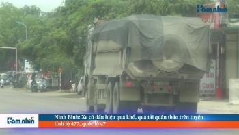 Ninh Bình: Xe có dấu hiệu quá khổ, quá tải quần thảo trên tuyến tỉnh lộ 477, quốc lộ 47