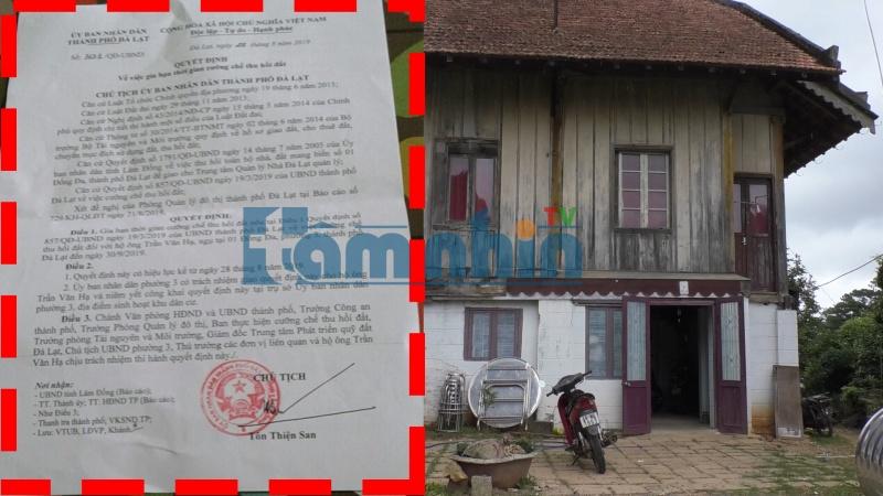 TP. Đà Lạt – Lâm Đồng: Quyết định gia hạn cưỡng chế thu hồi đất tại số 1 Đống Đa