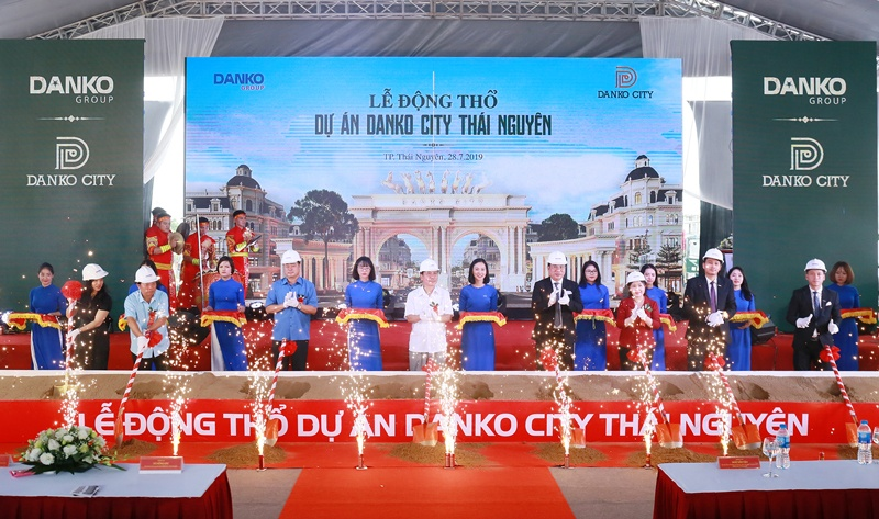 """Danko City Thái Nguyên chưa cấp phép, """"quan"""" tỉnh Thái Nguyên vẫn đến dự lễ động thổ?"""