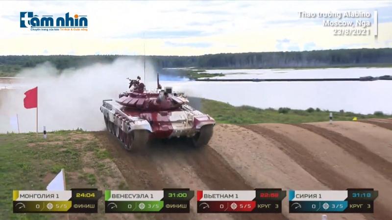 Toàn cảnh trận mở màn của đội tuyển xe tăng Việt Nam tại Army Games 2021