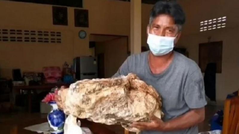 Long diên hương trị giá hơn một triệu USD được ngư dân Thái Lan tìm thấy