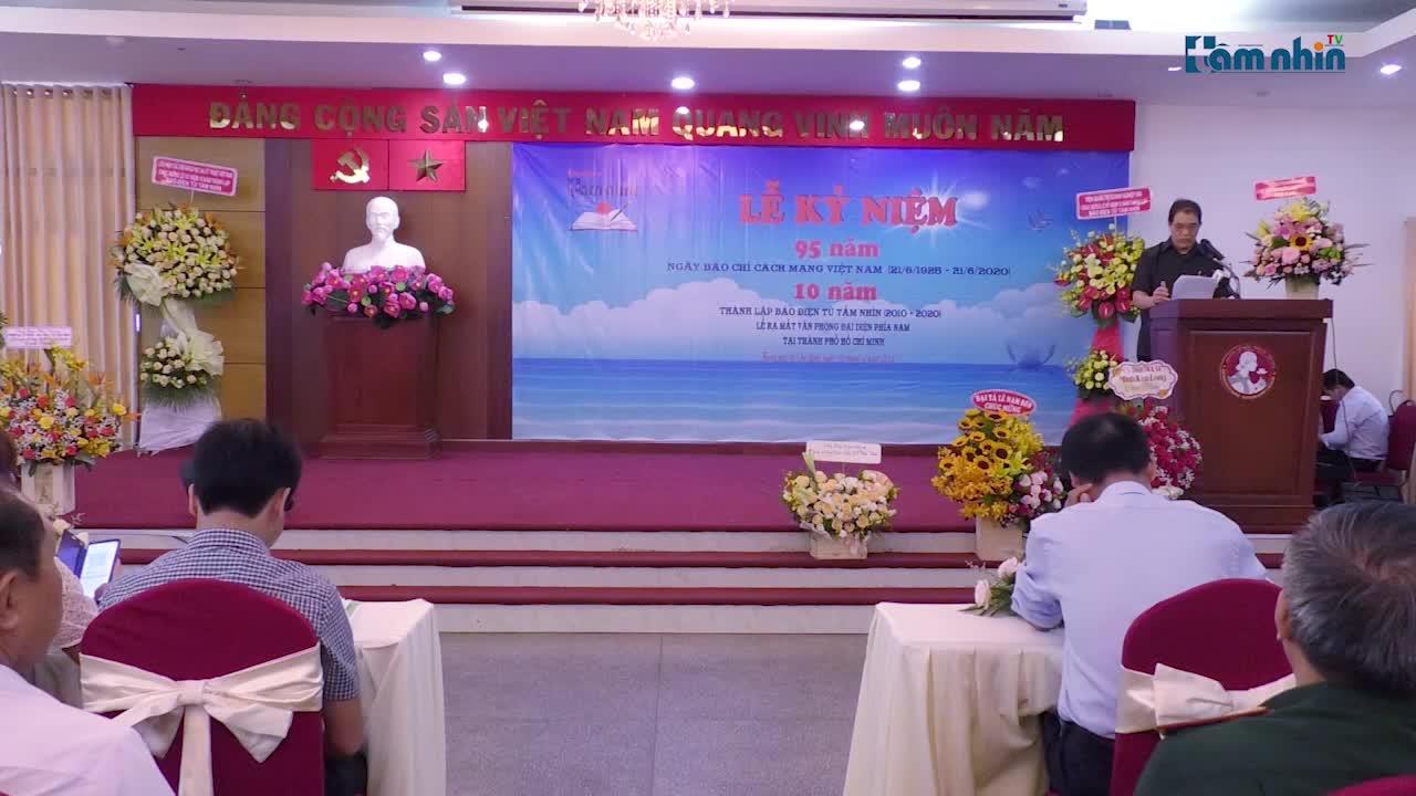 Chào mừng 95 năm ngày Báo chí cách mạng Việt Nam, 10 năm Báo Tầm nhìn và ra mắt văn phòng đại diện phía Nam