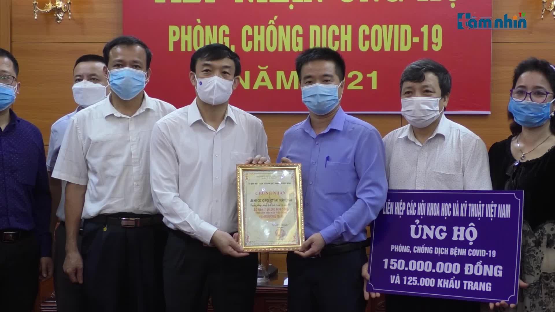 VUSTA ủng hộ Bắc Giang và Bắc Ninh phòng, chống dịch COVID-19