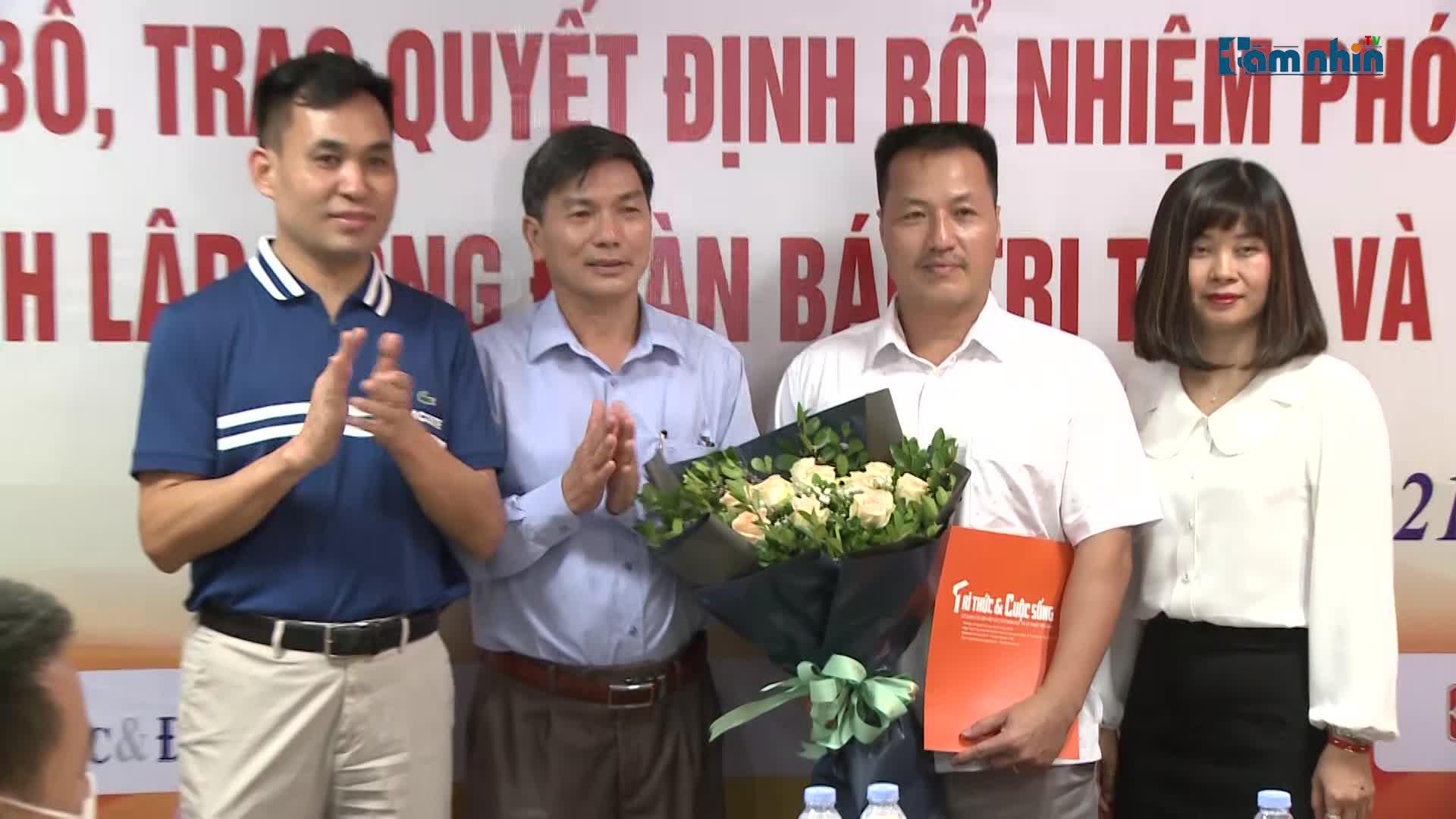 Nhà báo Nguyễn Danh Châu làm Phó Tổng biên tập báo Tri thức và Cuộc sống