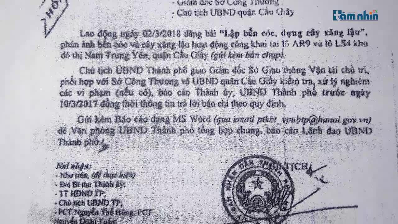 Cầu Giấy, Hà Nội: Bao che cho hoạt động xăng dầu không phép của Công ty Việt Thanh?