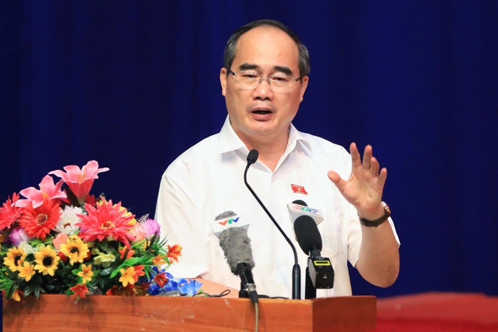 Bí thư Thành ủy Nguyễn Thiện Nhân trả lời cử tri về khu đô thị Thủ Thiêm