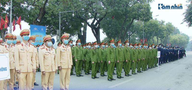 Lễ ra quân năm an toàn giao thông 2021